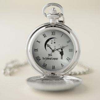 Reloj De Bolsillo Música que los números romanos de la lengua