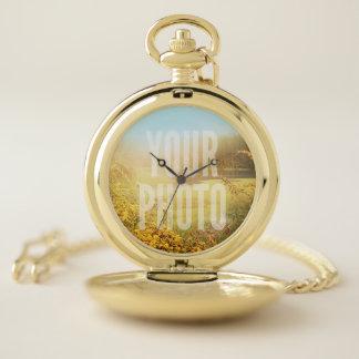 Reloj de bolsillo ninguna plantilla del terraplén