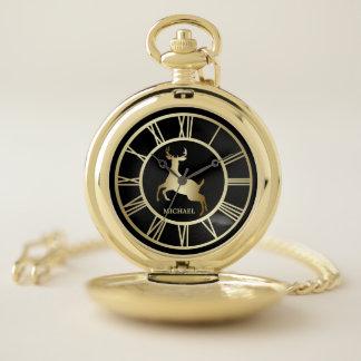 Reloj De Bolsillo Número romano de los ciervos del oro