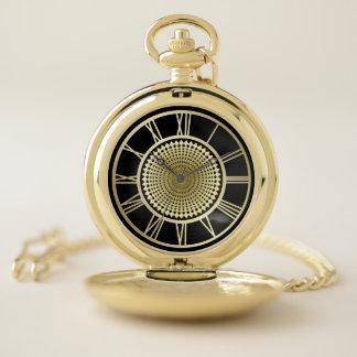 Reloj De Bolsillo Número romano del oro de la rueda elegante del