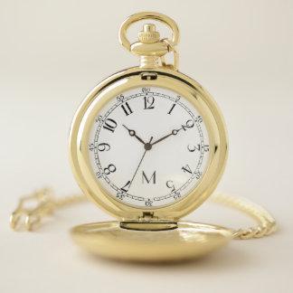 Reloj De Bolsillo Números árabes del vintage - su monograma