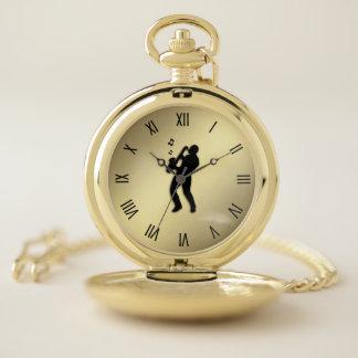 Reloj De Bolsillo Números romanos del jugador de saxofón w