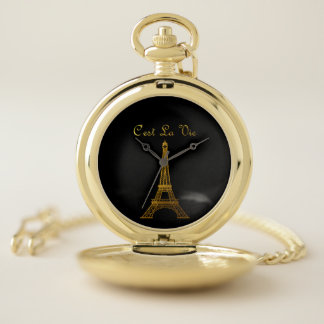 Reloj De Bolsillo París: El La de C'est compite
