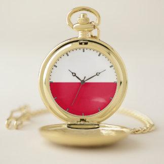 Reloj de bolsillo patriótico con de Polonia