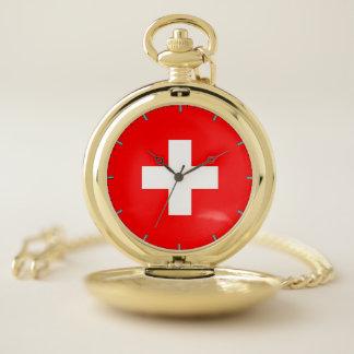Reloj de bolsillo patriótico con de Suiza