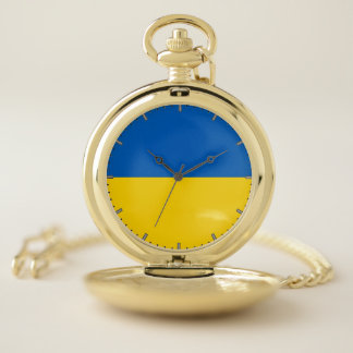 Reloj de bolsillo patriótico con de Ucrania