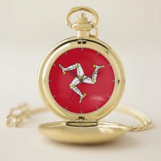 Reloj de bolsillo patriótico con la bandera de la