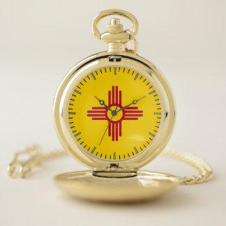 Reloj de bolsillo patriótico con la bandera de New