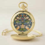 Reloj De Bolsillo Patrón floral William Morris Strawberry Thef