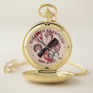 Reloj De Bolsillo Peluquero del estilista o salón de belleza con