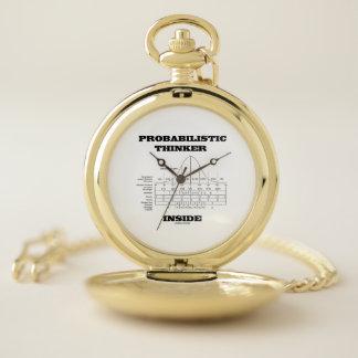 Reloj De Bolsillo Pensador de probabilidad dentro de distribución