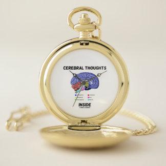 Reloj De Bolsillo Pensamientos cerebrales dentro del humor pensativo