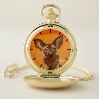 Reloj De Bolsillo Perro salvaje africano