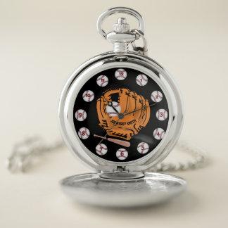 Reloj de bolsillo personalizado de la plata del