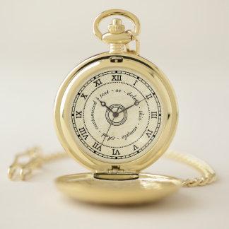 Reloj De Bolsillo Personalizado de mármol antiguo del efecto de los
