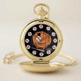 Reloj de bolsillo personalizado del oro del