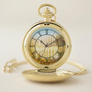 Reloj De Bolsillo Plantilla de la foto de los números romanos del