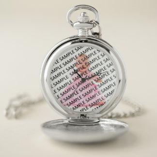 Reloj De Bolsillo Plantilla del regalo de la fotografía del retrato