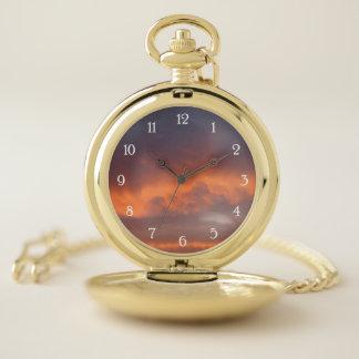 Reloj De Bolsillo Puesta del sol de Tejas (numerada)