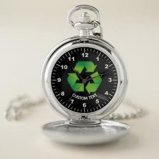 Reloj De Bolsillo Reciclaje de símbolo