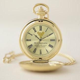 Reloj De Bolsillo Regalo de levantamiento de oro del retiro de