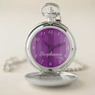Reloj De Bolsillo Retro con clase conocido personalizada raya