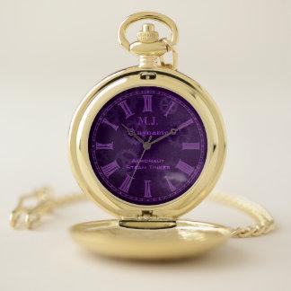 Reloj De Bolsillo Rueda dentada de la púrpura del chapucero del