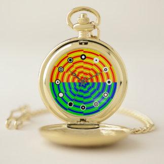 Reloj De Bolsillo Salida del sol de Digitaces (cara binaria) por