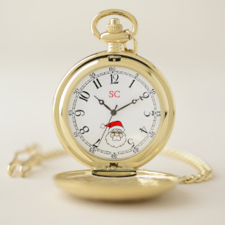 Reloj De Bolsillo Santa hace frente con el dial del vintage