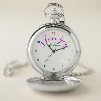 Reloj De Bolsillo Te amo todas las veces
