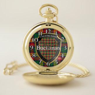 Reloj De Bolsillo Tela escocesa de tartán escocesa vieja de Buchanan