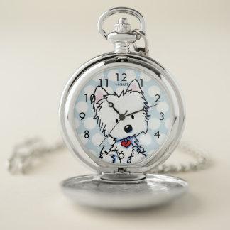 Reloj De Bolsillo Tiempo de KiniArt Westie