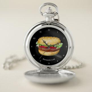 Reloj De Bolsillo Tiempo de la hamburguesa