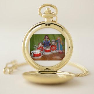 Reloj De Bolsillo Tiempo ruso del té de la muñeca