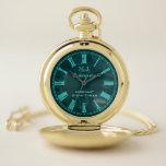 Reloj De Bolsillo Tinker de vapor de acero aeronauta Verdegris