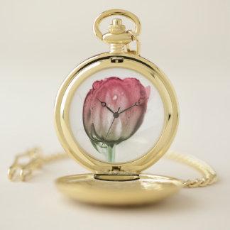 Reloj De Bolsillo Tulipán rojo