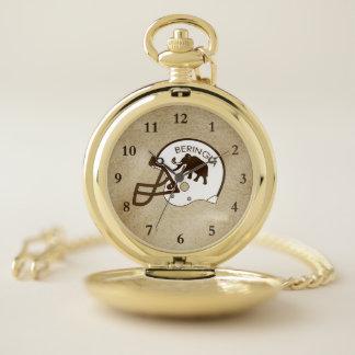 Reloj De Bolsillo Universidad del casco del mamut de Beringia