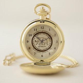 Reloj De Bolsillo Universidad del sello del mamut de Beringia