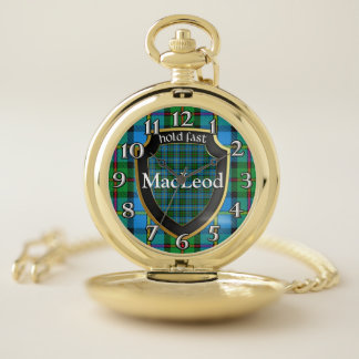 Reloj De Bolsillo Viejo clan escocés MacLeod del estilo del tartán