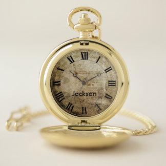 Reloj De Bolsillo Vintage con los números romanos