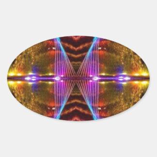 Reloj de cerca 2 CARAS sonrientes: Gráficos de la Pegatina Ovalada