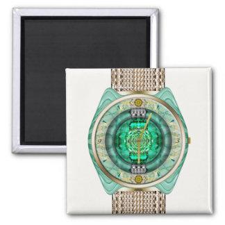 Reloj de cristal imán cuadrado