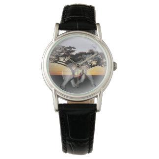 Reloj de cuero clásico de las señoras de la danza