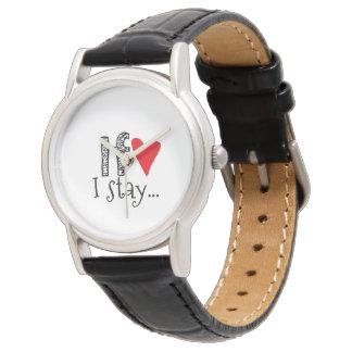 Reloj de dama con mensaje romántico