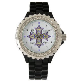 Reloj de encargo cruzado copto