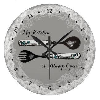 Reloj de encargo de la cocina del cordón de la