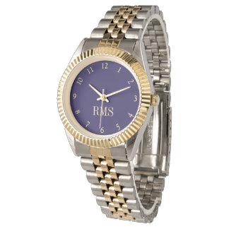Reloj de encargo de la pulsera de las iniciales