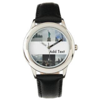 Reloj de encargo de Nueva York de los niños
