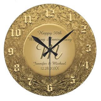 Reloj de encargo del aniversario del monograma