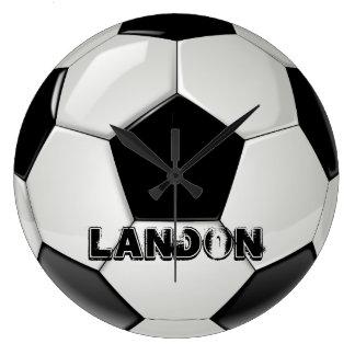Reloj de encargo del balón de fútbol